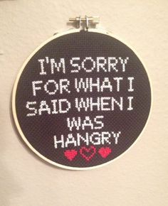 Small snarky crossstitch. I'm sorry for what I by DeseraeScalesArt, $20.00