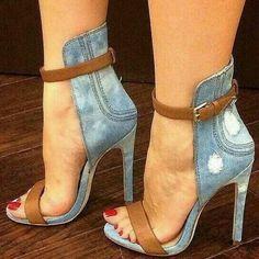 Sexy Denim Heels