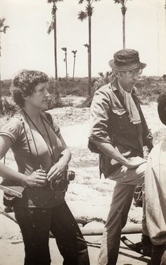 Chrstine Spengler with Denis Cameron in the countryside near Phnom Penh, #Cambodia | © unknown