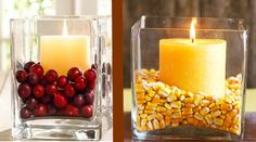 How to make festive Thanksgiving candle holders