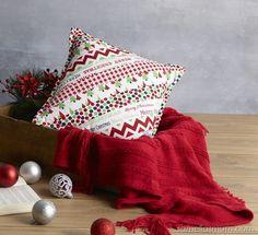 Festive QAYG Strip Cushion Tutorial at Samelia's Mum