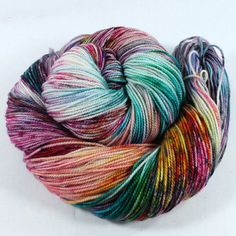 Hand Dyed Sock Yarn  SW Sock 80/20  Superwash by SpunRightRound