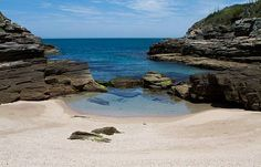 natural pools at Praia da Foca beach - Buzios, Rio de Janeiro