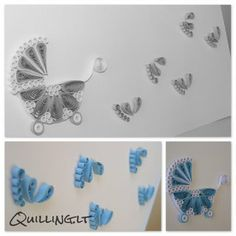 Quilling.lt: Atvirutė mažyliui.            ~ How adorable is this⁉️❗️⭐️❗️➕‼️‼️‼️➕‼️