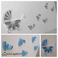 Quilling.lt: Atvirutė mažyliui. ~ How adorable is this⁉️❗️⭐️❗️➕‼️‼️‼️➕‼️