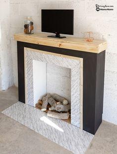Gran chimenea Weiss noble para casa de muñecas muebles miniatura salón 1:12