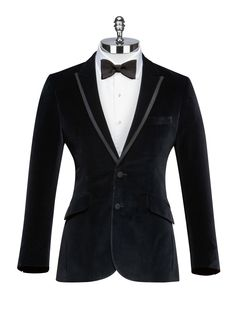 Midnight Velvet Smoking Jacket - Harvie & Hudson