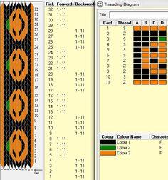11 tarjetas, 3 colores, secuencias 4B-4F // sed_227 diseñado en GTT༺❁