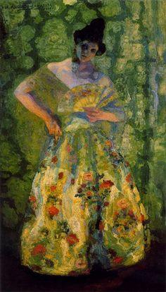 Hermenegildo Anglada Camarasa (Barcelona, 1871-1959) ~ Valenciana entre dos luces