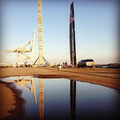 That's quite a reflection!  #AC72 #wing #oracleteamusa
