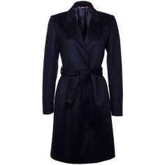 Gucci Black Wrap Over Lambswool Coat ($2,020) ❤ liked on Polyvore