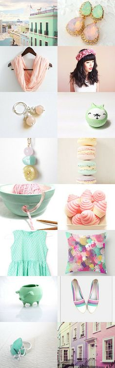 Spring Pastels by LuckyInkDesign -- Pinned with TreasuryPin.com #Etsy #Etsy.com #Treasury #Spring #Pastels #WomensFashion
