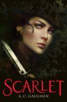 Scarlet by A. C. Gaughen. ISBN 9780802723468. Will Scarlett is one  of the Merry Men, Robin Hood's legendary band of thieves, but what few people know is that Will Scarlett is actually...a girl! Disguised as a boy to escape from her past, Scarlett robs from the rich and gives to the poor. When an old enemy of Scarlett's appears, she must choose: Keep her identity hidden? Or keep the people of Nottingham safe?