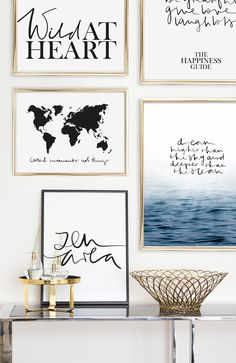 Scandinavian Art Print   Handlettering   Art Gallery   Wall Art   Quotes   Wild at Heart   The Happiness Guide   Collect moments not things   Dream higher than the sky and deeper than the ocean   Zen Area   Postershop   Tales by Jen   www.talesbyjen.com