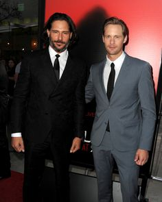 Joe Manganiello and Alexander Skarsgard linked up at their True Blood season six premiere in LA.