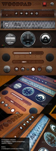 Woodpad - Touch User Interinterface, you can buy this GUI PSD on GraphicRiver for just $8
