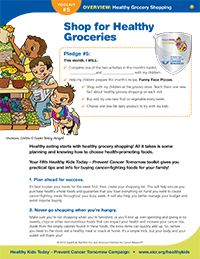 Don't miss out on these great new tips on healthy grocery shopping from the Healthy Kids Today, Prevent Cancer Tomorrow Campaign!