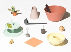 Introducing Ommo, a new minimal, colorful kitchen accessories brand designed by Shane Schneck, the creative director behind Hay.