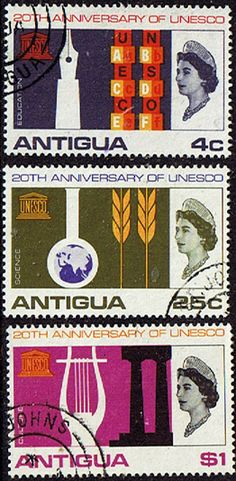 UNESCO 1966 Antigua Set Fine Used SG 196 8 Scott 183 5       Condition Fine Used Other Antigua Stamps HERE