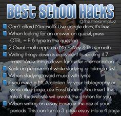 School goals, school tips, school routines, high school hacks, college hack High School Apps, Middle School Hacks, High School Life, Life Hacks For School, School Study Tips, School Tips, Back To School Highschool, College School Supplies, School Ideas