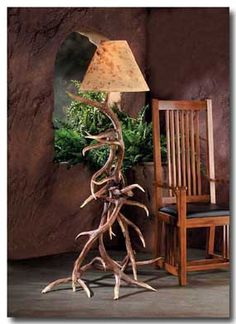 This floor lamp will be a focal point in any cabin, lodge, vacation home, rustic den, or game room. These antlers are injection molded from authentic antlers and are so realistic even the most experie