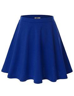 Doublju Women Solid Color Elastic Waist Band Stretchy Mid Length Flared Skirt Royalblue M Doublju http://www.amazon.com/dp/B00R25LIWK/ref=cm_sw_r_pi_dp_gZi6vb09Y6W7J