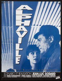 1980's ri I Alphaville I French I Re-issue of 1965 Godard classic