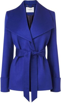 Bennett Danoe Wool and Cashmere Belted Coat 085 UAH) ❤ liked on… Dandy Look, Look Blazer, Blue Coats, Purple Coat, Cashmere Coat, Belted Coat, Elegante Designs, Mode Inspiration, Coats For Women