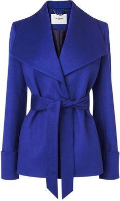 LK BENNET Danoe Coat in #cobalt blue