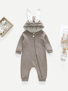 26b40aa35 SheIn offers Toddler Boys Baby Rabbit Romper & more to fit your fashionable  needs. V. Twin Outfits