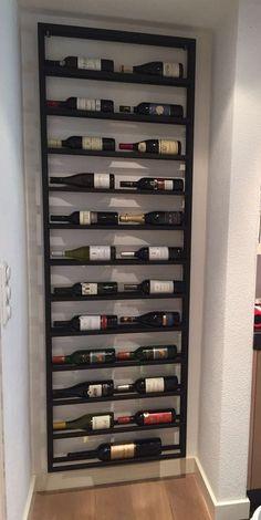 Wine Kitchen - Wijnrek 2 X 12 Stalenwijnrekken – Amazing Kitchen Decors Wine Rack Design, Cellar Design, Wine Rack Wall, Wine Wall, Wine Rack Inspiration, Garden Inspiration, Home Wine Cellars, Filigranes Design, Wine Cabinets