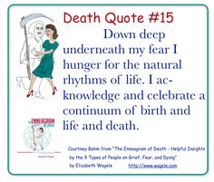 "Death Quote #15 from ""The Enneagram of Death"" by Elizabeth Wagele"