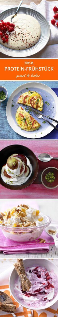 Für den perfekten Start in den Tag! Diese Frühstücks-Ideen punkten mit Eiweiß, machen satt und unterstützen dich bei deinen Abnehmplänen.