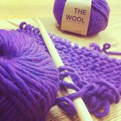 100% Wool in Purple | WAK