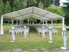 Trauung im Zelt Gartenhochzeit Kärnten www.help-org.at Gazebo, Outdoor Structures, Wedding, Event Management, Tent Wedding, Barns, Outdoor Camping, Valentines Day Weddings, Kiosk