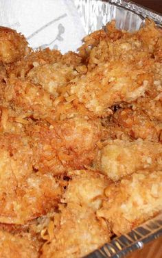 Recipe for Coconut Crusted Halibut - Do you love coconut shrimp as much as we do? If so, then you'll love this healthy twist on the well- known recipe.Recipe and Photo: OK, Maybe Just A Sliver Healthy Coconut Shrimp, Coconut Fish, Coconut Shrimp Recipes, Fish Recipes, Seafood Recipes, Cooking Recipes, Baked Halibut Recipes, Halibut Baked, Dinner Recipes