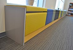 Modern Seating. The Library @ West St. John Elementary School, Designed by Billes Partners
