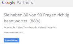We proudly present: Unser Neo-Googler Martin Figge hat heute die Google #AdWords Grundlagen Prüfung bestanden. Congrats! Jetzt sind wir schon drei zertifizierte Googler bei #Webwerk!