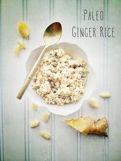 "Post image for Ginger Fried Cauli 'Rice"". (Paleo/ Gluten/Grain Free)"