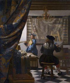 Johannes Vermeer <em>Alegoria malarstwa </em>, ok. 1662 - 1668,  Muzeum Historii Sztuki w Wiedniu, Wiedeń