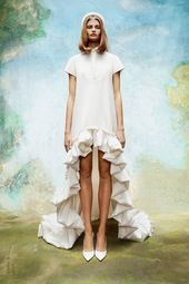 Viktor & Rolf Bridal looks to an enchanted garden for its fall-winter 2020 collection. Classic wedding dress styles take the spotlight with floral… Wedding Looks, Bridal Looks, Bridal Style, Classic Wedding Dress, Wedding Dress Styles, Dress Wedding, Dress With Bow, The Dress, Viktor & Rolf