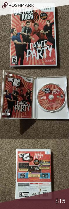 Nintendo Wii Big Time Rush dance party Nintendo Wii big time rush dance party with instruction booklet  Check out our other big time rush stuff to bundle! Other