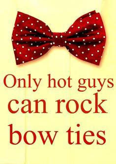 """hot guys rock bow ties (like Blaine on """"Glee"""")"""