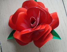 Custom Handmade hand painted paper rose.