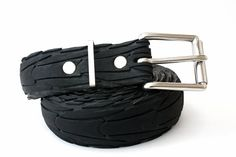 Tread & Pedals Bicycle Tyre or Tire (you say tomato) Belt - super stylish with it's shiny bike spoke keeper strap.