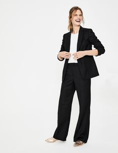 Claremont Wide Leg Trousers T0169 Trousers & Skirts at Boden