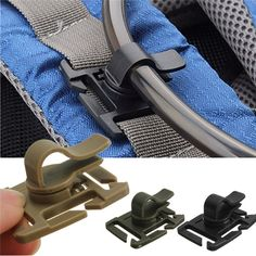 Rotatable Drinking Hose Webbing Tube Clamp Clip Molle Hydration Bladder Trap
