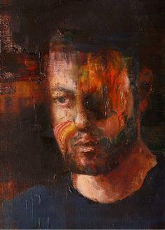 Cyprian Nocoń self portrait 2018 oil on canvas