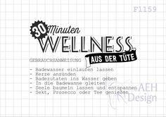 Wellness sprüche gutschein  Bildergebnis für 15 minuten wellness in der tüte | Geschenke ...