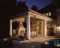 beringer fine homes | traditional patio by 2 Young Architects
